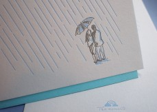Letterpress Love Card - Rainy Days