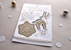 Sugar Cookies Gift Tag - Gold