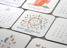 2015 Letterpress Coaster Calendar - The True Courage (with free shipping)