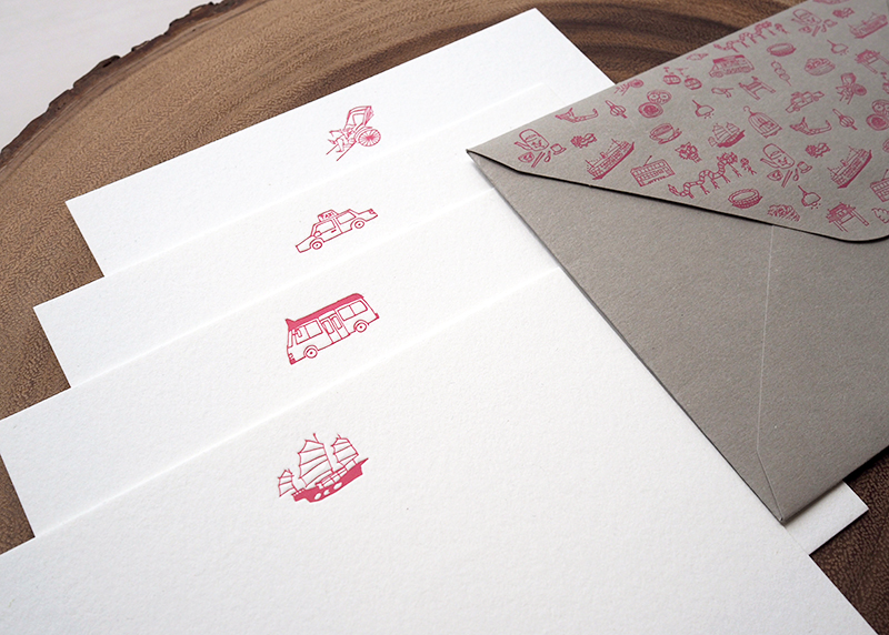 Get Around Hong Kong Notecard *special edition red*