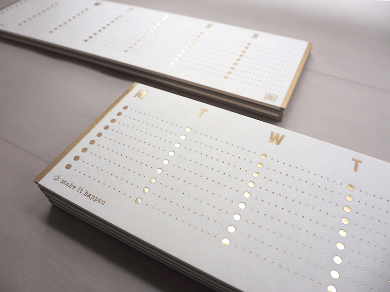 weekly to-do list - hot foil gold