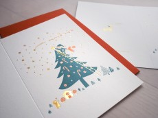Letterpress Xmas Card - Catching Star
