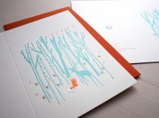 Letterpress Xmas Card - Winter's Song