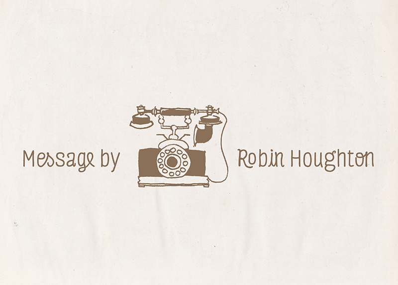 Personalized Vintage Telephone Notecard