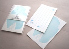 Letterpress memo paper - cloud