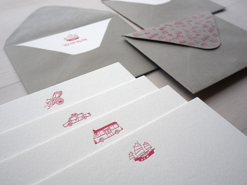 Personalized Get Around Hong Kong Notecard