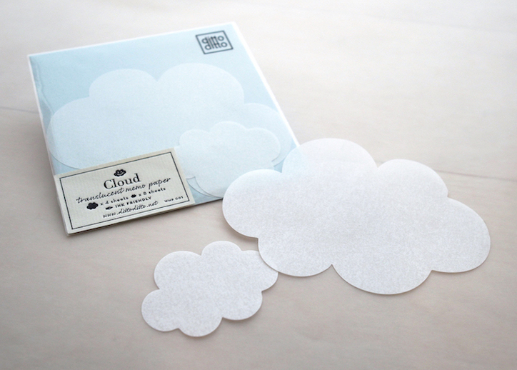 Cloud - translucent memo paper
