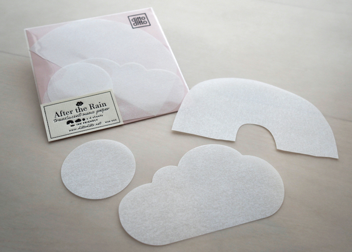 After the Rain - translucent memo paper