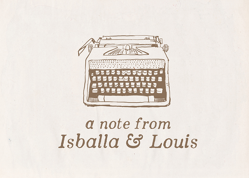 Personalized Vintage Typewriter Notecard