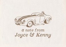 Personalized Vintage Shelby Cobra Notecard