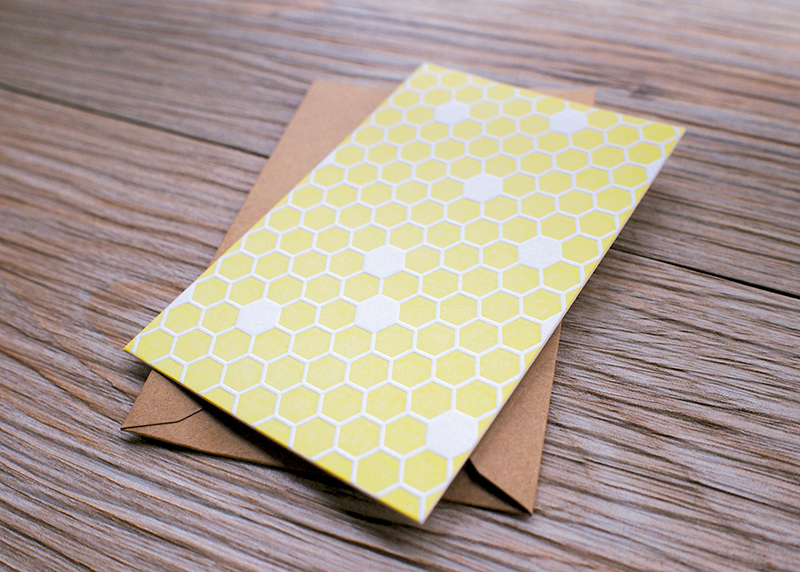 Honeycomb Pattern Card