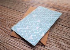 Triangular Pattern Card