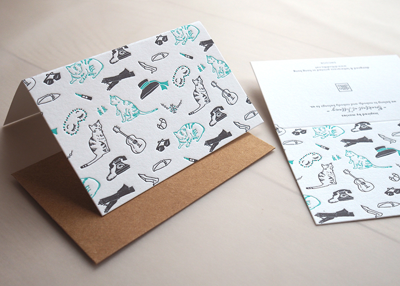 Breakfast at Tiffany's mini pattern card