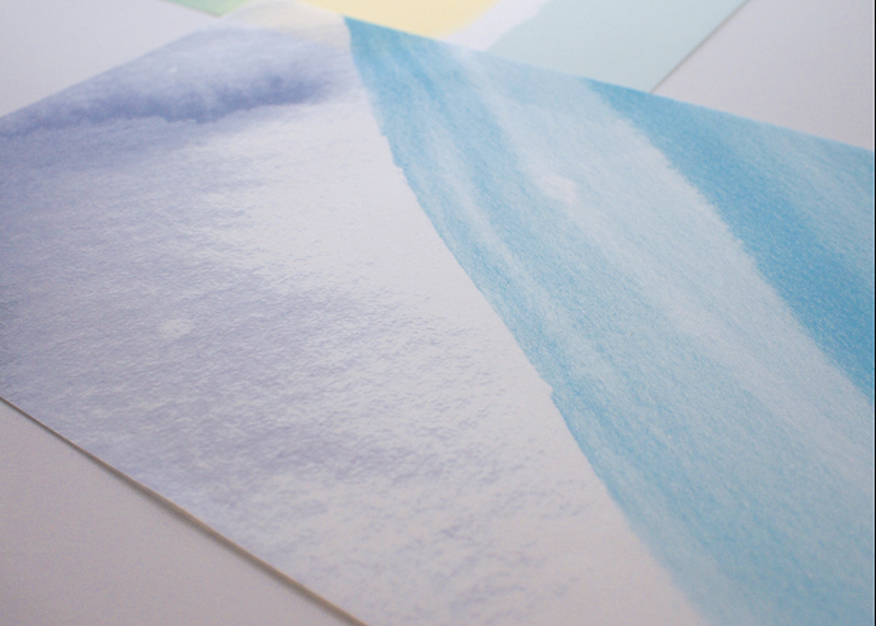 Watercolor Landscape III Wrapping sheets